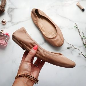 LUCKY BRAND Emmie flat cognac leather
